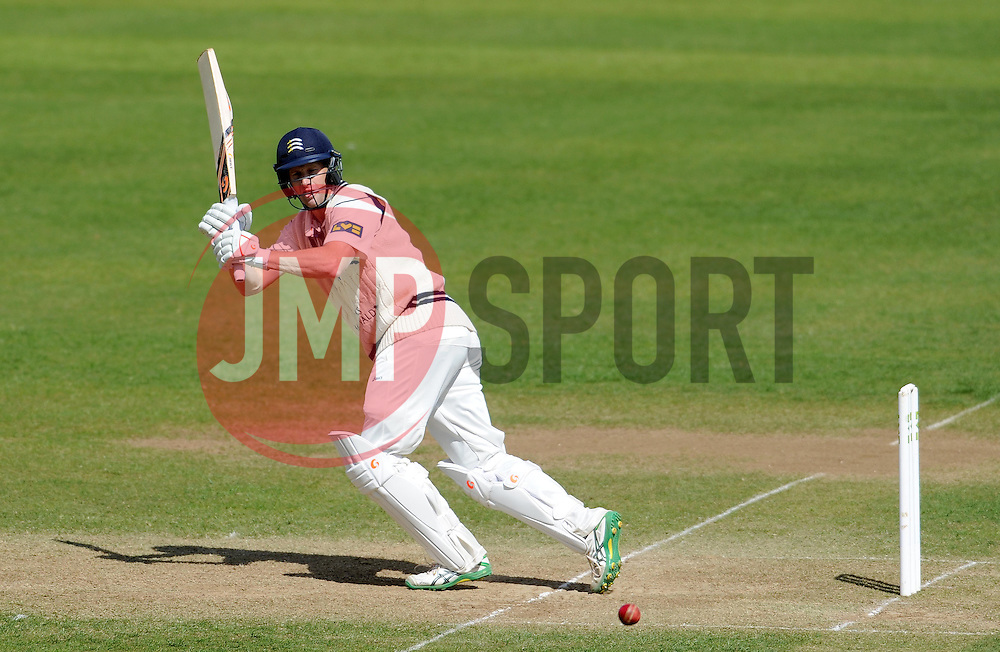 Middlesex's Adam Voges flicks the ball. - Photo mandatory by-line: Harry Trump/JMP - Mobile: 07966 386802 - 29/04/15 - SPORT - CRICKET - LVCC Division One - County Championship - Somerset v Middlesex - Day 4 - The County Ground, Taunton, England.