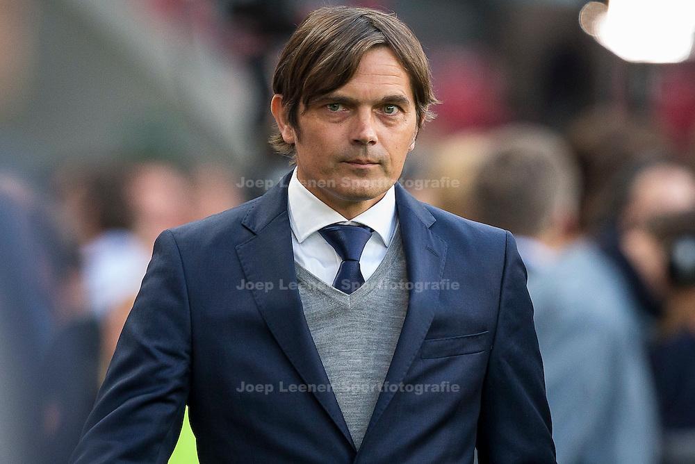 EINDHOVEN, PSV - PEC Zwolle, voetbal Eredivisie seizoen 2014-2015, 10-04-2015, Philips Stadion, PSV coach Phillip Cocu.