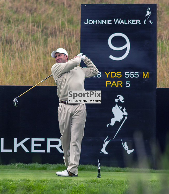 Jose Maria Olazabal tees off at the 9th hole at the Johnny Walker Championship (c) ROSS EAGLESHAM | Sportpix.eu
