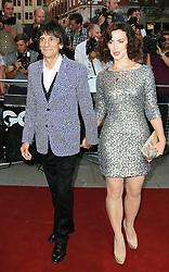 Ronnie Wood; Sally Humphreys, GQ Men of the Year Awards, Royal Opera House, London UK, 03 September 2013, (Photo by Richard Goldschmidt)