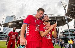 16-08-2017 NED: Europa League FC Utrecht - Zenit St. Petersburg, Utrecht<br /> Mark van der Maarel #2 of FC Utrecht, Robin van der Meer #15 of FC Utrecht