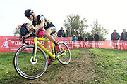 Belgium, November 1 2017: Ellen van Loy (Telenet-Fidea Lions ) during the 2017 edition of the Koppenbergcross elite women's race. Van Loy finished the race in 7th place. Copyright 2017 Peter Horrell.