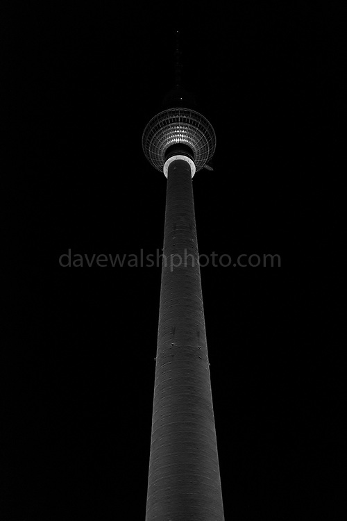 """Berliner Fernsehturm, or Alex Tower, in Berlin, Germany. Constructed by the GDR, German Democratic Republic between 1965 and 1969, it was a symbol of communist power. At 368m it's the highest structure in Germany, and the 2nd hightest in the EU. This mage can be licensed via Millennium Images. Contact me for more details, or email mail@milim.com For prints, contact me, or click """"add to cart"""" to some standard print options."""