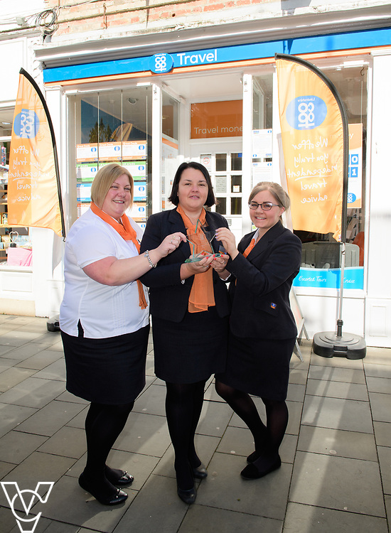 Lincolnshire Co-operative's Celebrating Success Evening winners.  Newark Travel branch were won Travel Branch of the Year.  Pictured, from left, Pippa Hall, manager Clare Pennington and Amyjo Dykes.<br /> <br /> Picture: Chris Vaughan Photography for Lincolnshire Co-op<br /> Date: May 2, 2017