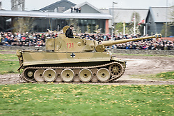 "The only working Tiger 1 tank in the world, Tiger 131, drives around the tank course at the Tank Museum in Bovington, Dorset, as the attraction hosts ""Tiger Day"" to mark the 75th anniversary of the world's only working Tiger Tank's capture in 1943 in the Tunisian desert."