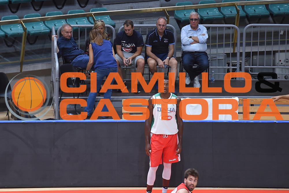 \Giovanni Gianni Petrucci, Gaetano Laguardia, Francesco Daniello<br /> Nazionale Senior maschile<br /> Allenamento<br /> World Qualifying Round 2019<br /> Bologna 12/09/2018<br /> Foto  Ciamillo-Castoria / Giuliociamillo