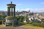 City of Edinburgh from Calton Hill, Scotland.