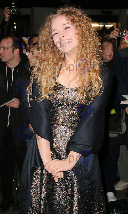 Carrie Hope Fletcher, WhatsOnStage Awards, Prince of Wales Theatre, London UK, 23 February 2014, Photo by Richard Goldschmidt