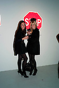 CASSIE HUNTER; SUZI MIQUILINI, Richard Hambleton private view.- New York- Godfather of Street art presented by Vladimir Restoin Roitfeld and Andy Valmorbida in collaboration with Giorgio armani. The Old Dairy. London. 18 November 2010. -DO NOT ARCHIVE-© Copyright Photograph by Dafydd Jones. 248 Clapham Rd. London SW9 0PZ. Tel 0207 820 0771. www.dafjones.com.
