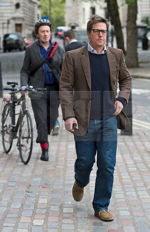 © Licensed to London News Pictures. 17/05/2012. London, UK. Actor Hugh Grant arriving for a rally for media reform organised by Hacked Off and the Co-ordinating Centre for Media Reform at Central Hall, Westminster, London on May 17, 2012. Photo credit : Ben Cawthra/LNP