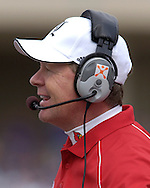 Louisville Cardinals head coach Bobby Petrino during first half action against Kansas State at Bill Snyder Family Stadium in Manhattan, Kansas, September 23, 2006.  The 8th ranked Louisville Cardinals beat K-State 24-6.