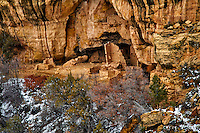 Cliff Palace in the winter. Mesa Verde National Park. Image taken with a Nikon D3 camera and 80-400 mm VR lens (ISO 200, 270 mm, f/5.3, 1/100 sec).
