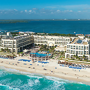 Aerial view of the Marriott Casamagna hotel. Cancun, Mexico.