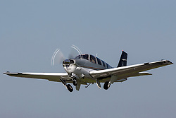 Beechcraft Bonanza G36 (registration N360FV) takes off from Palo Alto Airport (KPAO), Palo Alto, California, United States of America