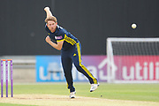 Liam Dawson of Hampshire bowling during the Royal London One Day Cup match between Hampshire County Cricket Club and Middlesex County Cricket Club at the Ageas Bowl, Southampton, United Kingdom on 23 April 2019.