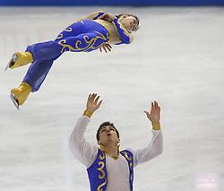 26-01-2011 KUNSTRIJDEN: EK 2011 ISU EUROPEAN FIGURE SKATING CHAMPIONSHIPS: BERN<br /> Paare Kurzprogramm Natalja Zabijako / Sergei Kulbach EST<br /> *** NETHERLANDS ONLY ***<br /> ©2011-WWW.FOTOHOOGENDOORN.NL- EXPA/ Newspix/ Manuel Geisser