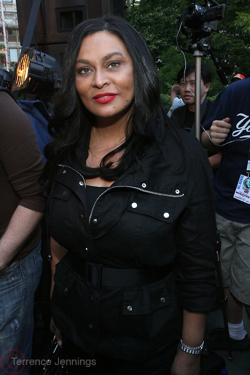 Tina Knowles at The 2008 J &R Downtown Music Festival Launch at City Hall Park on August 21, 2008 in New York City