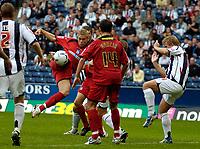 Photo: Ed Godden.<br />West Bromwich Albion v Colchester United. Coca Cola Championship. 19/08/2006. Colchester's Jamie Guy scores.