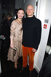 Actress CAMILLA RUTHERFORD and DOMINIC BURNS at the Grand Classic screening of The Apartment held at The Electric Cinema, 191 Portobello Road, London on 16th March 2008.<br />