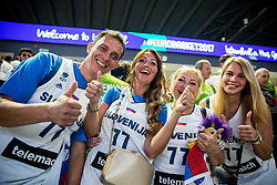 Boris Požeg - Pixi, Mirjam Poterbin, mother of Luka Doncic of Slovenia, grandmother and girlfriend celebrate after the basketball match between National Teams of Slovenia and Latvia at Day 13 in Round of 16 of the FIBA EuroBasket 2017 at Sinan Erdem Dome in Istanbul, Turkey on September 12, 2017. Photo by Vid Ponikvar / Sportida
