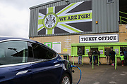 Ticket office during the EFL Sky Bet League 2 match between Forest Green Rovers and Mansfield Town at the New Lawn, Forest Green, United Kingdom on 24 March 2018. Picture by Shane Healey.