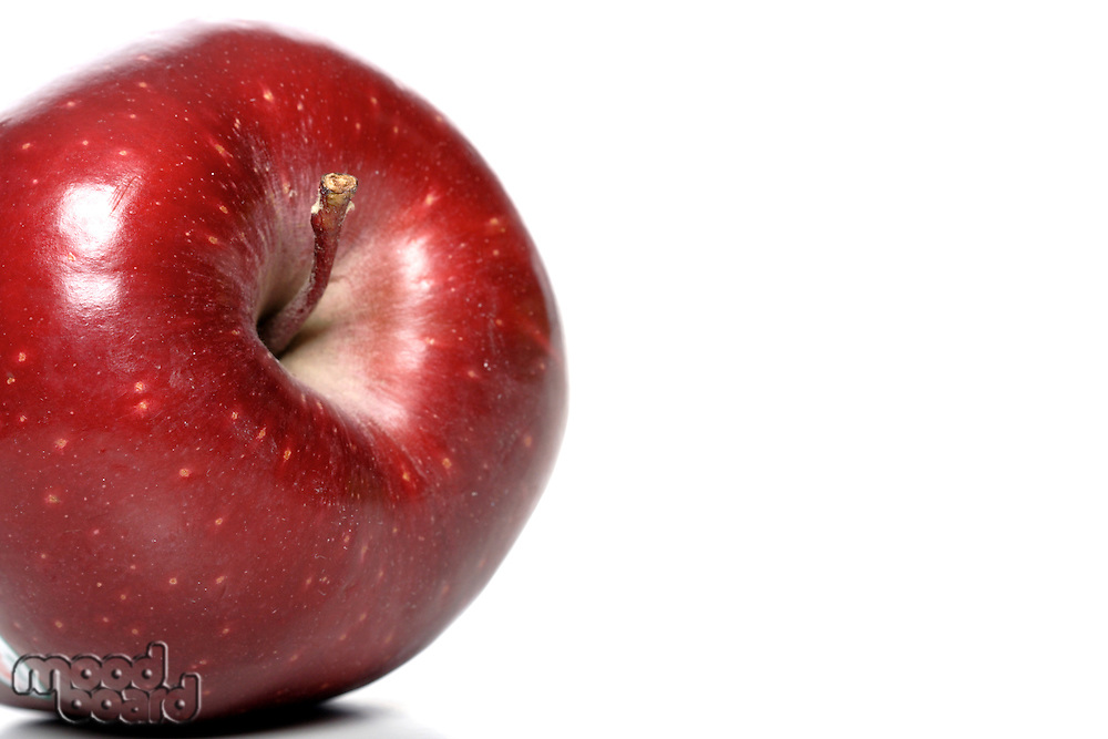 Close up of red apple