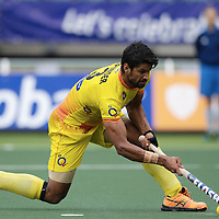 DEN HAAG - Rabobank Hockey World Cup<br /> 34 India - Korea<br /> Foto: Rupinder Penalty Stroke.<br /> COPYRIGHT FRANK UIJLENBROEK FFU PRESS AGENCY