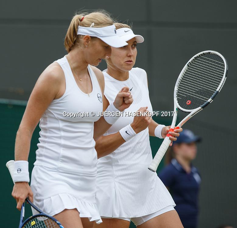 EKATERINA MAKAROVA / ELENA VESNINA, Damen Doppel<br /> <br /> Tennis - Wimbledon 2017 - Grand Slam ITF / ATP / WTA -  AELTC - London -  - Great Britain  - 14 July 2017.