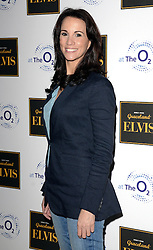 Andrea McLean attends Elvis At The O2 Gala Night at The O2, Peninsula Square, London on 15th December 2014