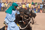 Rider at the FECHIBA horse festival in Barani, north west Burkina Faso