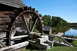 Water wheel on the Forge, Saugus Iron Works National Historic Site, Saugus, Massachusetts, United States of America