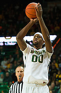 WACO, TX - JANUARY 31: Royce O'Neale #00 of the Baylor Bears shoots a three-pointer against the Texas Longhorns on January 31, 2015 at the Ferrell Center in Waco, Texas.  (Photo by Cooper Neill/Getty Images) *** Local Caption *** Royce O'Neale
