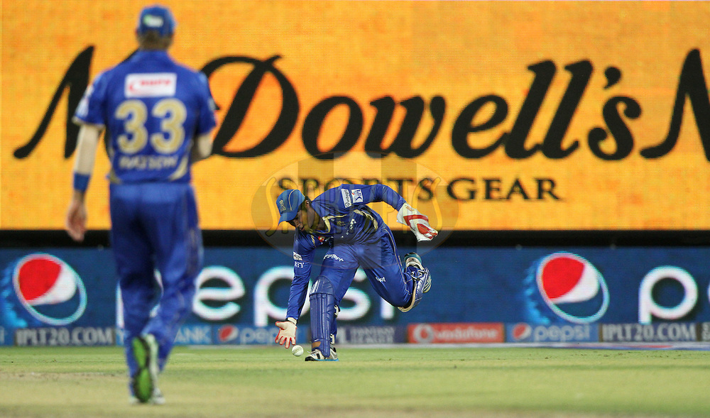 Sanju Samson of the Rajatshan Royals during match 23 of the Pepsi Indian Premier League Season 2014 between the Delhi Daredevils and the Rajasthan Royals held at the Feroze Shah Kotla cricket stadium, Delhi, India on the 3rd May  2014<br /> <br /> Photo by Deepak Malik / IPL / SPORTZPICS<br /> <br /> <br /> <br /> Image use subject to terms and conditions which can be found here:  http://sportzpics.photoshelter.com/gallery/Pepsi-IPL-Image-terms-and-conditions/G00004VW1IVJ.gB0/C0000TScjhBM6ikg