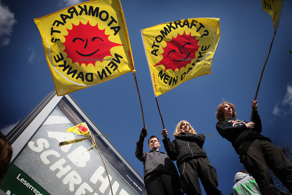 50.000 people demonstrate in Hamburg against german governments nuclear policy and demand an immediately stop of nuclear power production. Together with protests in Cologne, Munich and Berlin 250.000 people participate at this largest anti nuclear demostrations ever.