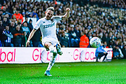 Leeds United defender Luke Ayling (2) passes the ball during the EFL Sky Bet Championship match between Leeds United and Sheffield Wednesday at Elland Road, Leeds, England on 11 January 2020.