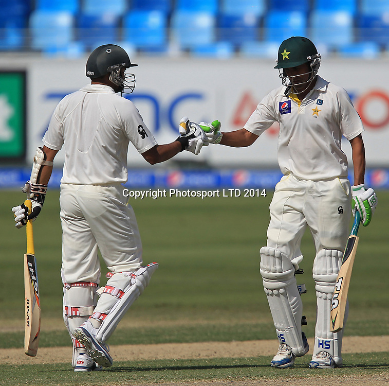 Pakistan vs New Zealand, 19 November 2014 <br /> Younis Khan and Azhar Ali gave a strong partnership on the third day of second test in Dubai