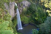 Bridal Veil Falls on the Pakoka River near Raglan in the Waikato area of New Zealand