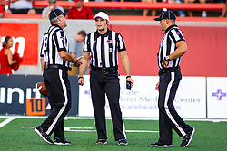 NORMAL, IL - September 07: Jamie Birr, Matt Packowski, and John Winter during a college football game between the ISU (Illinois State University) Redbirds and the Morehead State Eagles on September 07 2019 at Hancock Stadium in Normal, IL. (Photo by Alan Look)