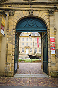 Entrance to the Bayeux Tapestry Museum, Bayeux, Normandy, France.