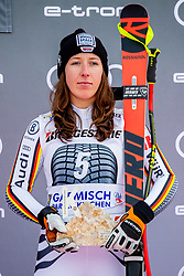 27.01.2019, Kandahar, Garmisch, GER, FIS Weltcup Ski Alpin, Abfahrt, Damen, Siegerehrung, im Bild 3. Platz Kira Weidle (GER) // 3nd placed Kira Weidle of Germany during the winner Ceremony for the ladie's Downhill of FIS Ski Alpine World Cup at the Kandahar in Garmisch, Germany on 2019/01/27. EXPA Pictures © 2019, PhotoCredit: EXPA/ Dominik Angerer