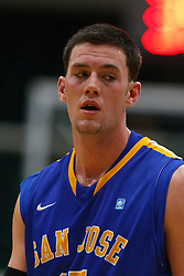 Nov 16, 2011; San Francisco CA, USA;  San Jose State Spartans forward Wil Carter (15) before a free throw against the San Francisco Dons during the second half at War Memorial Gym.  San Francisco defeated San Jose State 83-81 in overtime. Mandatory Credit: Jason O. Watson-US PRESSWIRE
