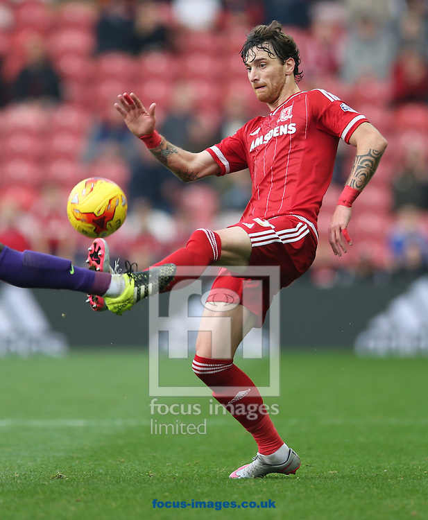 Fernando Amorebieta of Middlesbrough during the Sky Bet Championship match at the Riverside Stadium, Middlesbrough<br /> Picture by Simon Moore/Focus Images Ltd 07807 671782<br /> 31/10/2015