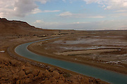 The canal leading to the Dead Sea works, Dead sea, Israel