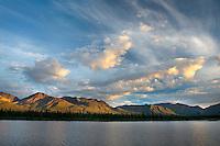 Talkeetna Mountains at sunset Alaska