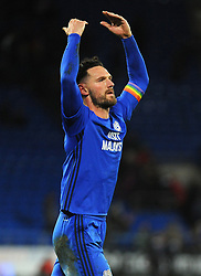 Sean Morrison of Cardiff City praises fans at the full time whistle -Mandatory by-line: Nizaam Jones/JMP - 01/12/2017 -  FOOTBALL - Cardiff City Stadium- Cardiff, Wales-  Cardiff City v Norwich City- Sky Bet Championship