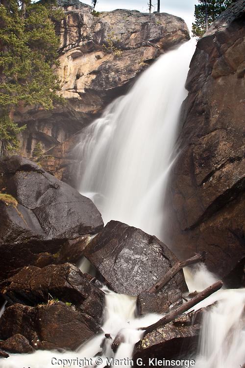 Ouzel Falls on Ouzel Creek in the Wild Basin Area, Rocky Mountain National Park, Colorado.