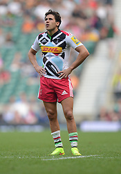 Harlequins replacement Ollie Lindsay-Hague - Photo mandatory by-line: Alex James/JMP - 07966 386802 - 06/09/2014 - SPORT - RUGBY UNION - London, England - Twickenham Stadium - Saracens v Wasps - Aviva Premiership London Double Header.