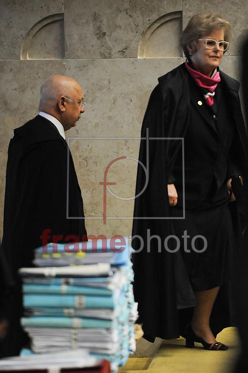 A ministra Rosa Weber no plenário do STF na tarde desta quarta-feira, 16/03/2016. Hoje o Supremo deve definir as regras para o processo de impeachment da presidente Dilma Rousseff na Câmara dos Deputados. foto: Andressa Anholete/FramePhoto