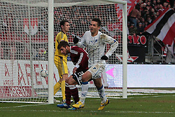 10.12.2011, easy Credit Stadion, Nuernberg, GER, 1.FBL, 1. FC Nürnberg/ Nuernberg vs TSG 1899 Hoffenheim, im Bild:Vedad Ibisevic (Hoffenheim #19) macht 0-1 Tor durch Kopfball. // during the Match GER, 1.FBL, 1. FC Nürnberg/ Nuernberg vs TSG 1899 Hoffenheim on 2011/12/10, easy Credit Stadion, Nuernberg, Germany..EXPA Pictures © 2011, PhotoCredit: EXPA/ nph/ Will..***** ATTENTION - OUT OF GER, CRO *****