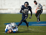 Rich wide receiver Wyatt Muirbrook comes up short on a diving catch during the Utah High School 1A Football championship game between Duchesne and Rich in Pleasant Grove, Saturday, Nov. 10, 2012.